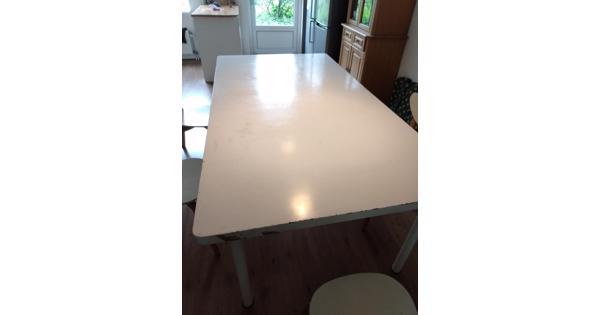 Grote witte eetkamer tafel/werktafel