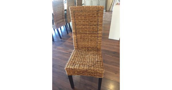Rotan stoelen 6 stuks