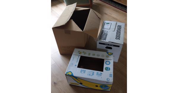 Kartonnen doos, bananendoos en verhuisdoos