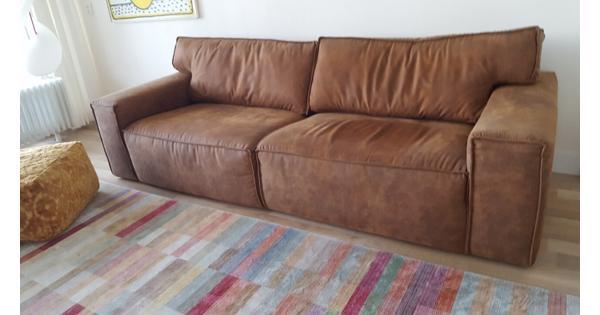 2,5 zits, bruin 250 x 100 (zitdiepte 65 cm)