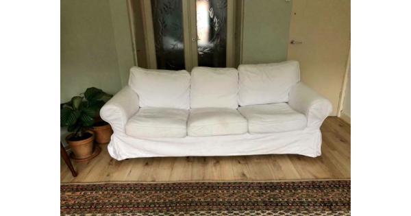 Witte Ikea Ektorp bank 3 zits