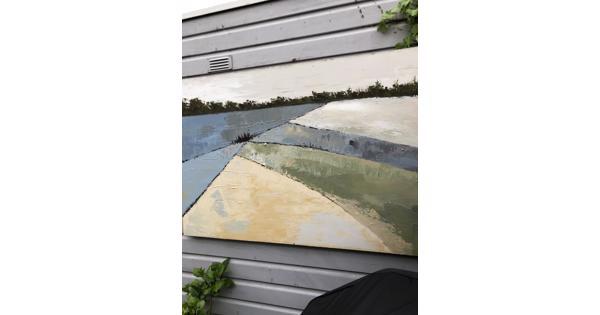 Schilderij voor in de tuin of binnen