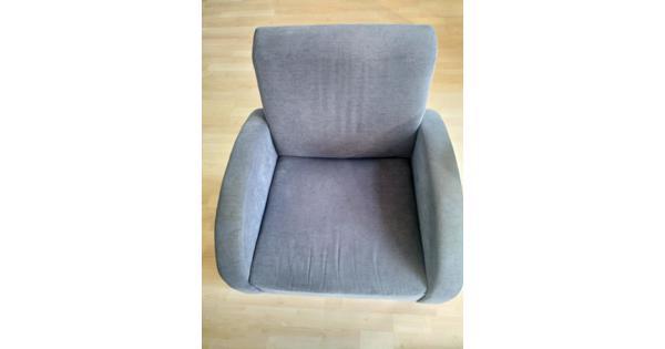 2 blauwe fauteuils / stoelen voor in de woonkamer