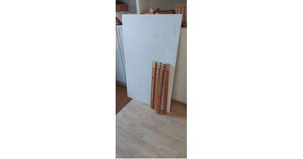 Tafel, hout, 120*75 cm, met demonteerbare poten