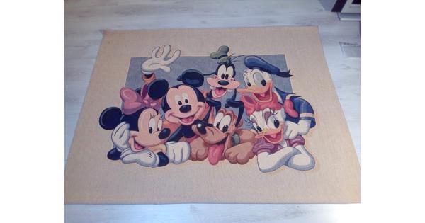 Vintage wandkleed met Disney figuren