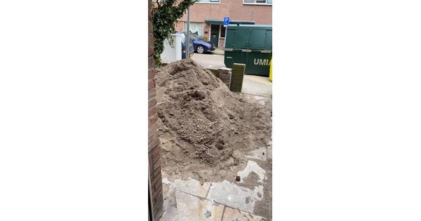 2,5 m3 zwart zand