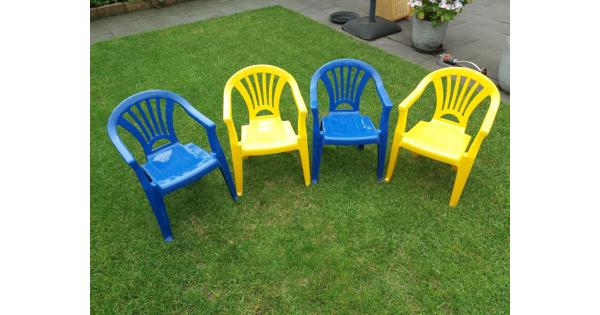 Kinder (tuin) stoeltjes, 4 stuks