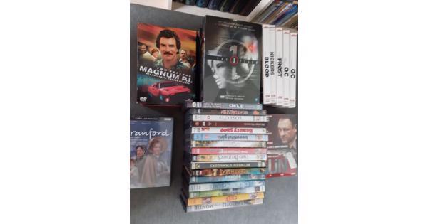 Stapel originele dvd's,  incl enkele boxsets