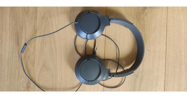 Hoofdtelefoon - microfoon grijs
