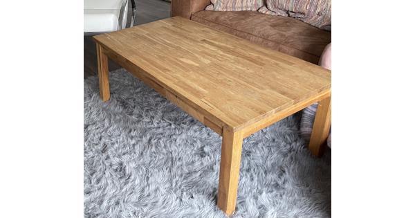Ikea massief houten salontafel