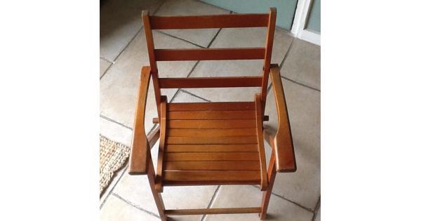 Vintage klapstoeltje voor kinderen