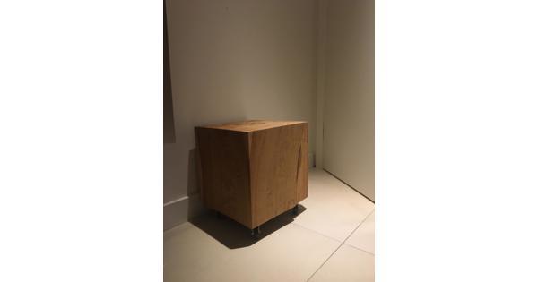 houten blok op wieltjes