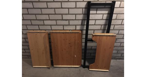 WEDEKA onderdelen: 80 breed, 40 diep, bureaublad 60 diep