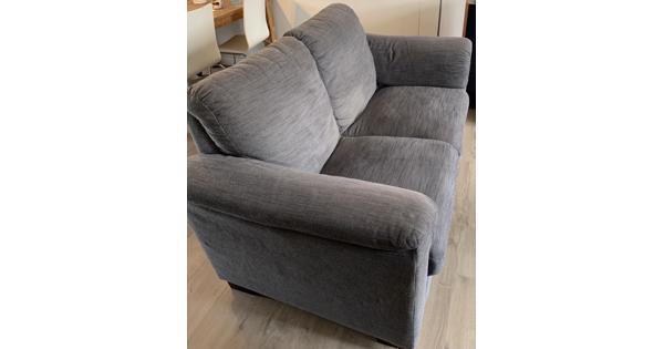 Ikea Tidafors banken grijs 2,5 en 2 zits met hocker