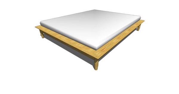 Houten 2p bedframe (200x160)