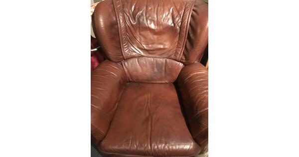 Lederen fauteuils