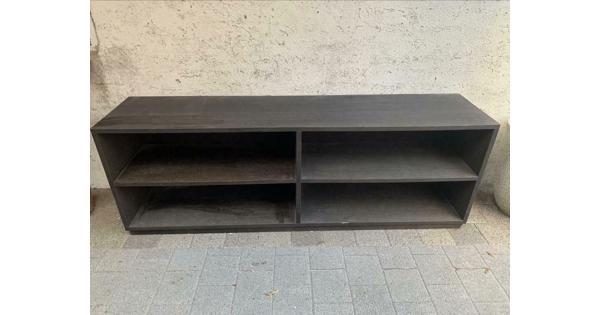 Massief zwart houten (tv) meubel
