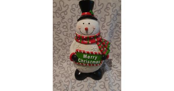 Sneeuwpop met lampjes