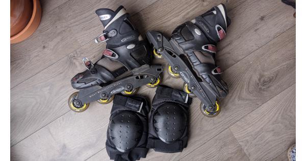 Skates en kniebeschermers