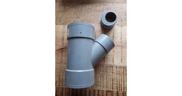 Riool Y stuk 110mm hoek 45