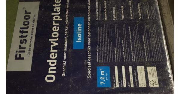 ondervloerplaten firstfloor 6 vierkante meter