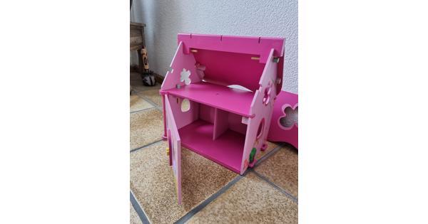 Poppenwagen en poppenhuis(je) hout