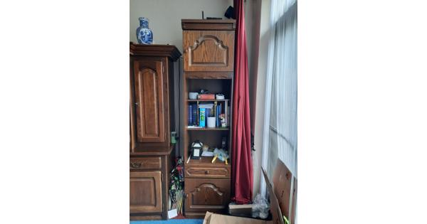 Eikenhouten Boeken kast/opbergkast