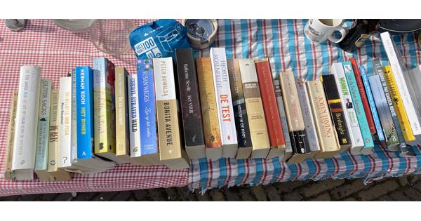 30-tal boeken Nederlands en Engels variërend van non-fictie tot detectives tot romans