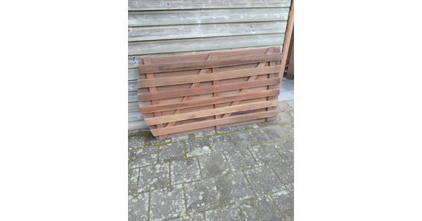 Hardhouten tuindeur 100x180 cm