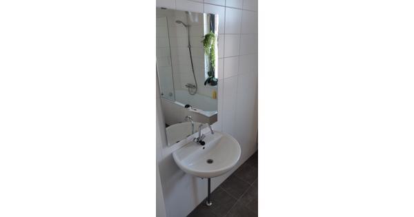 Wastafel inclusief Grohe kraan, afvoer en spiegel
