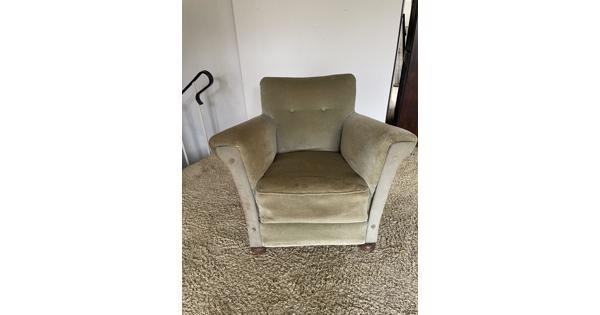 Gratis leuke fluwelen fauteuil (Bussum)