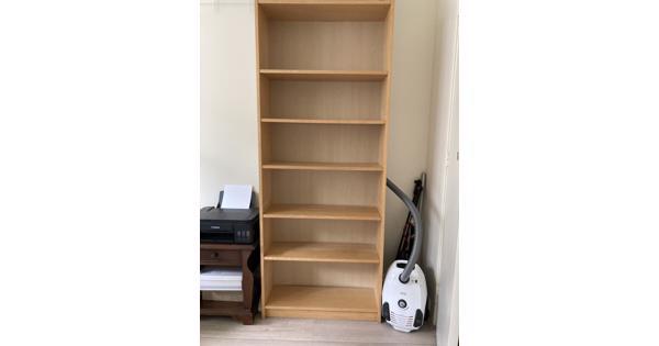 Billy Ikea boekenkast berkenfineer