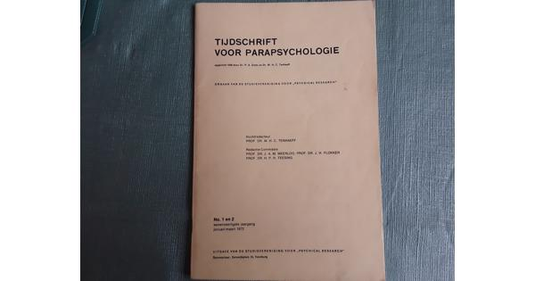 Tijdschrift voor Parapsychologie