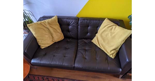 Landskrona bank en fauteuil ikea donker bruin