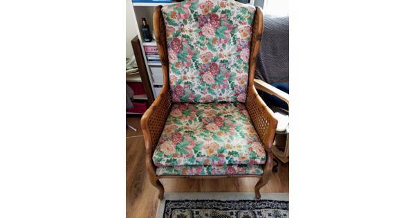 Bloemetjes fauteuil bamboe