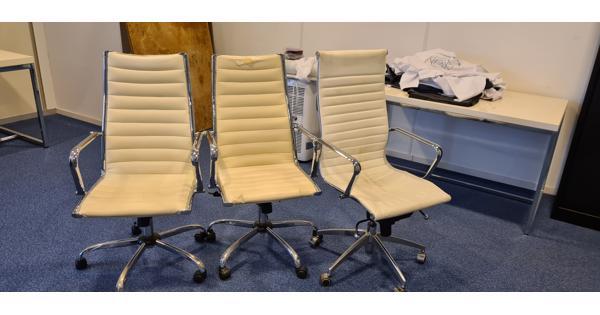 bureaustoelen, wit