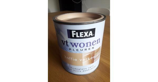 Flexa zijdeglansverf koffie verkeerd