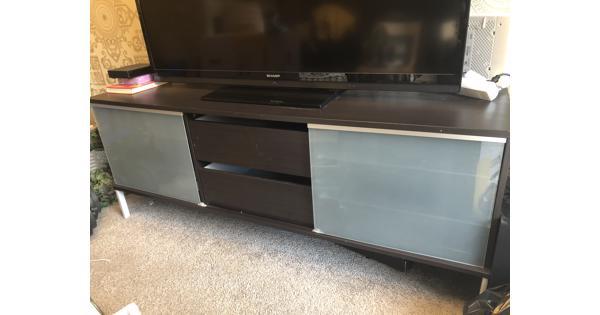 Donkerbruine tv-meubel