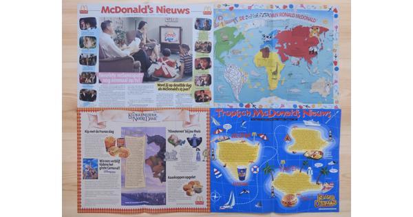 McDonald's papieren placemats