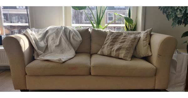 Sofa / Bank (beige) (195x88x74)