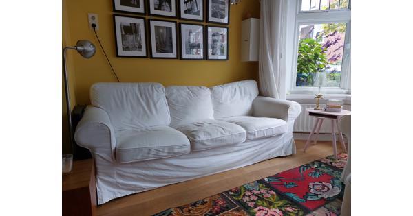Witte 3zitsbank Ektorp IKEA